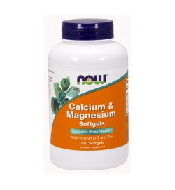 Calcium-Magnesium + D 120 softgels NOW