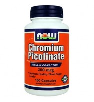 Chromium Picolinate 200 mcg 100 caps NOW