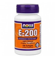 E-200 Da 100 softgels NOW