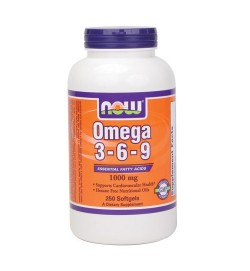 Omega 3-6-9 1000 mg 250 softgels NOW