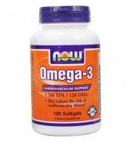 Omega-3 1000 mg 100 softgels NOW