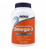 Omega-3 1000 mg 200 softgels NOW