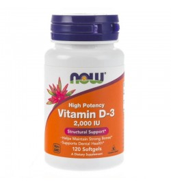 Vitamin D3 2000 120 caps NOW