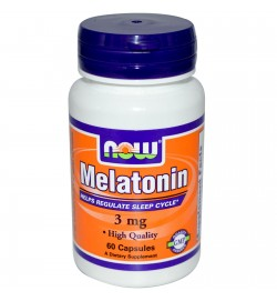 Melatonin 3 мг 60 cap NOW